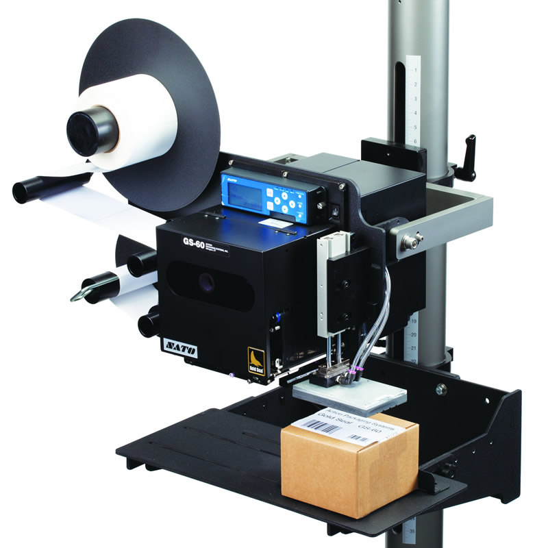 Automatic Label Applicator ~ Gs printer label applicator with fixture gold seal